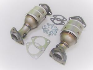Fits-2005-2010-Nissan-Frontier-4-0L-2-Piece-Pair-Front-Catalytic-Converter