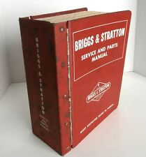 Vintage Briggs Amp Stratton Service And Parts Manual Large Red Book