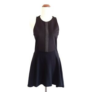 Witchery-Womens-Size-10-Black-Sleeveless-A-Line-Party-Evening-Dress