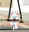 thumbnail 1 - Hanging-Car-Ornament-Kitten-On-A-Log-Car-Pendant-Rearview-Mirror-Accessory