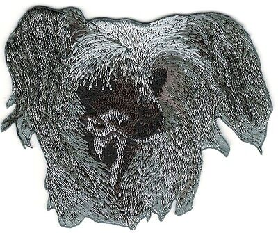 "2 3/4"" x 3 1/4"" Chinese Crested Dog Breed Portrait Embroidery Patch"