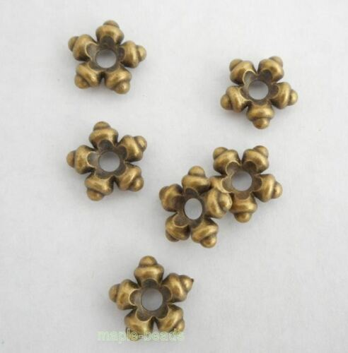8pcs-12mm BIG flower spacer brass spacer beads-Antique brass metal Charm beads