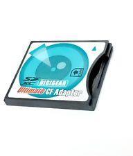 wi-fi SDIO SD SDHC SDXC (B) to High-Speed CF Type II Adapter for 16/32/64/128 GB