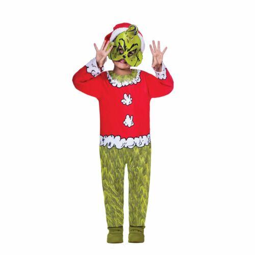 Garçons Filles Grinch Movie Fancy Dress Costume Dr Seuss Christmas Day Costume Kids