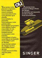 Publicité 1981  SINGER planche à repasser