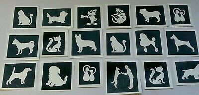 face painting  present  dogs Pug dog stencils for glitter tattoos airbrush