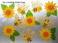 BEA'S SUNFLOWERS & BEES WINDOW CLINGS CONSERVATORY SAFETY STICKERS  DECALS