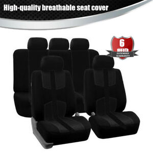 Universal-Breathable-seat-cover-5-Seat-Black-Four-seasons-For-Car-Truck-Suv