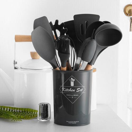 Silicone Spatula Soup Spoon Colander Shovel Cooking Utensils Kitchen Gadgets