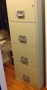 Image is loading SCHWAB-4-DRAWER-FIRE-SAFE-METAL-FILE-CABINET-
