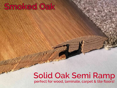 Real Solid Oak Ramp Wood Flooring Trim Door Threshold Trims DARK CHOCOLATESo OAK