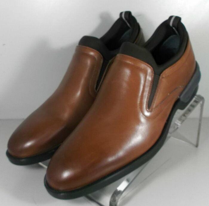 27NP220197 SP50 Chaussures Hommes Taille 9 m en Cuir Marron À Enfiler Johnston & Murphy