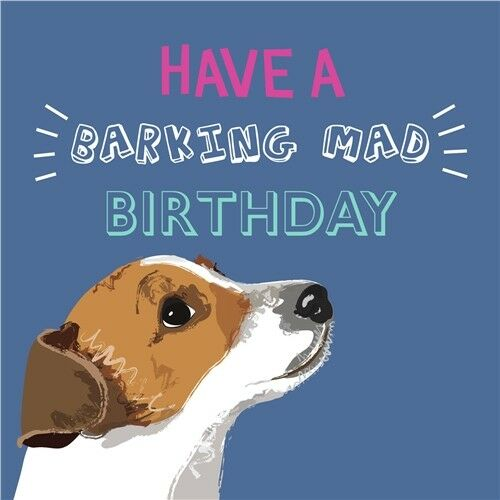 Waggy Tails Charity Dog Birthday Greeting Card Jack Russell Barking