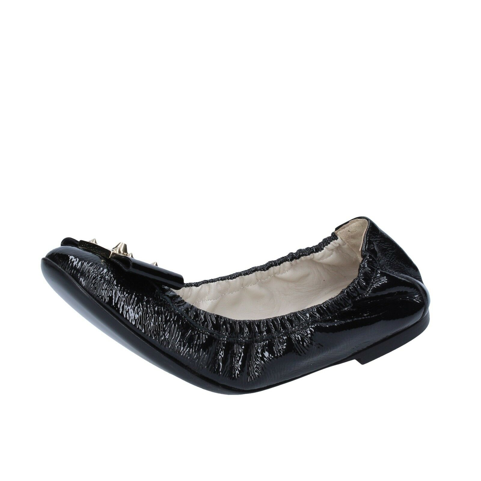 Women's shoes FENDI 6 (EU 36) flats black patent leather leather leather AV285-36 3e86e6