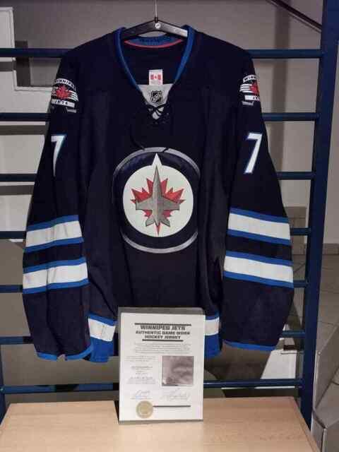 Winnipeg Jets Game Worn Jersey, Gameworn, Ellerby, COA,Size 58, NHL,DEL,KHL,AHL