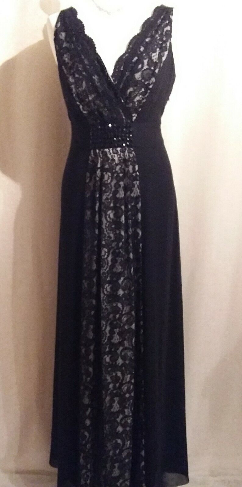 **New With Tags** Jacques Vert long length black evening dress, size 12