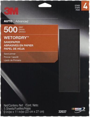 "3M 32037 Imperial Wetordry 9/"" x 11/"" P500 Grit Sheet"