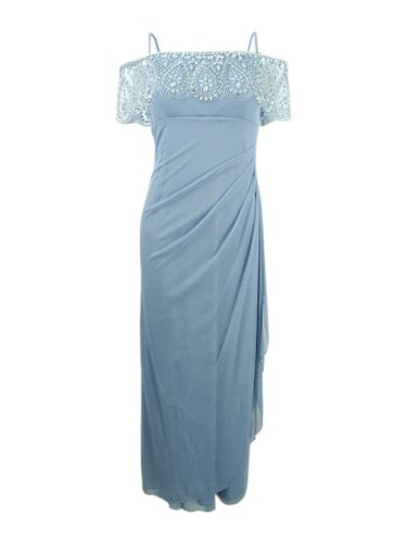 Xscape Women/'s Petite Embellished Off-The-Shoulder Gown