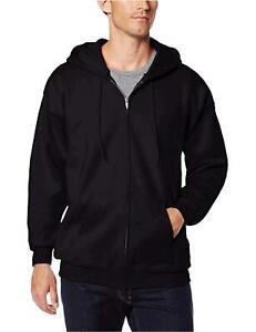 Hanes-Men-039-s-Full-Zip-Ultimate-Heavyweight-Fleece-Hoodie-Black-Size-XX-Large-T