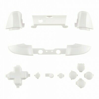 Xbox One S Controller White Full Button Replacement Kit Abxy Trigger D-pad Lb Rb Verpakking Van Genomineerd Merk
