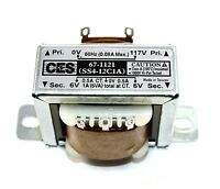 Power Transformer, 117VAC -> 12VAC Center Tap (6_0_6), 1A ( 28N072 )