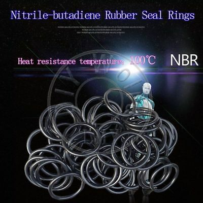 100x NBR Rubber O Ring Seal Plumbing Gasket WD 1mm OD 10//10.5//11//11.5//12//12.5//13