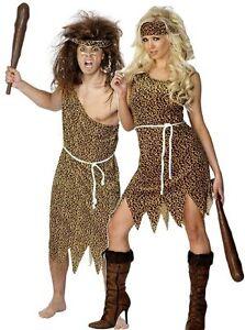 Caveman Cavewoman Costume - Mens Womens Fancy Dress - Halloween ...
