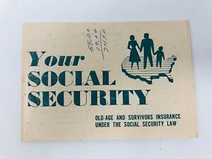 Rare-Your-Social-Security-Booklet-Pamphlet-1950s-50s-1954-Information