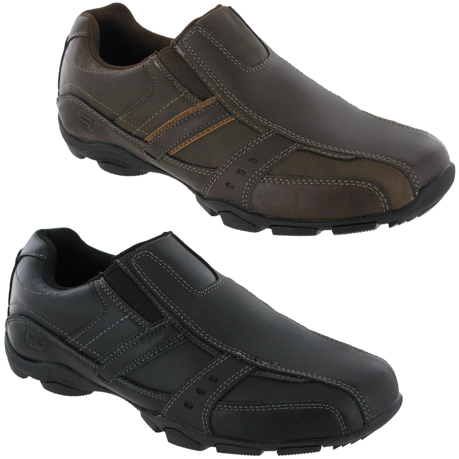 Skechers Marter-Kool digz entrenadores 999747 para hombres cuero zapatos de espuma de memoria