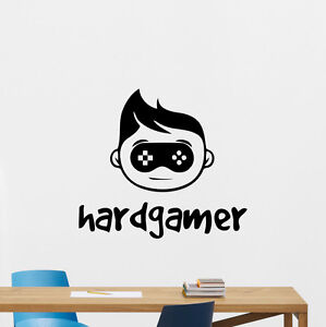 Image Is Loading Hard Gamer Wall Decal Gamepad Vinyl Sticker Video