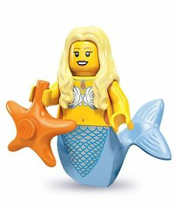 Lego-collectable-series-9-minifig-mermaid-and-starfish-matches-ship-boat-sets