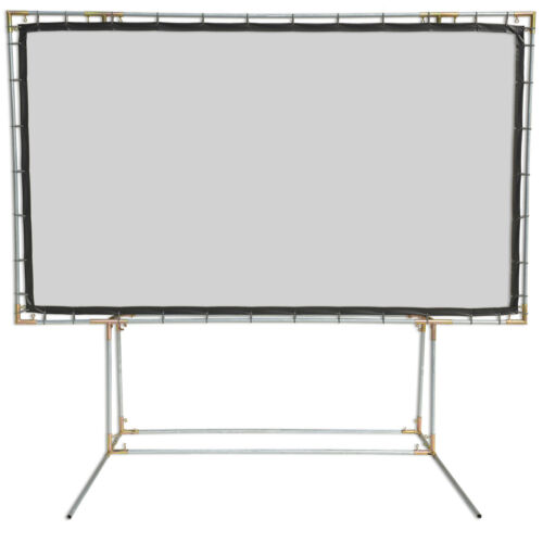 Carl's Blackout Cloth 16:9 6.75x12 White FreeStanding Projector Screen Kit