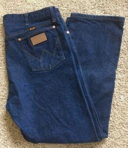 MENS-Wrangler-Cowboy-Cut-Original-Fit-40x30-Blue-Jeans-13MWZ-Preowned