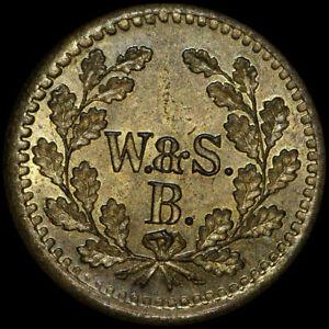WERTMARKE-50-Pfennig-Messing-W-amp-S-B-BERLIN-BRANDENBURG