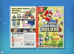 New Super Mario Bros U Deluxe Replacement Case Double Sided Nintendo Switch Ebay