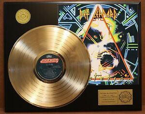 Def-Leppard-Hysteria-24k-Gold-LP-Record-Display-Free-USA-Shipping