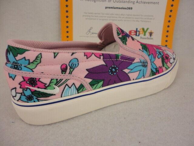 W Nike Toki Slip Print, Pink Glaze   Sail - Varsity Purple, Floral, Vans, Sz 10