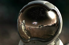 Lámina-Astronauta Casco De La Luna (imagen Cartel Espacio Arte Planeta)