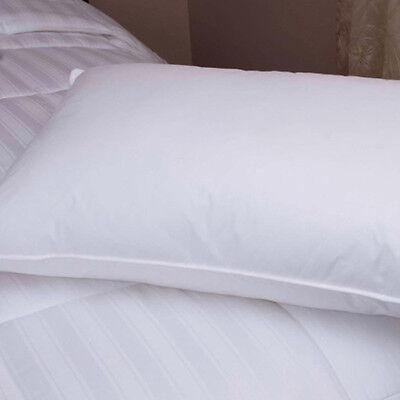 Downlite Hotel 20/80 White Duck Down & Feather Blend Pillow - Medium Density
