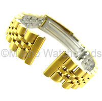 14mm Milano Gold Deployment Buckle Metal Ladies Watch Band