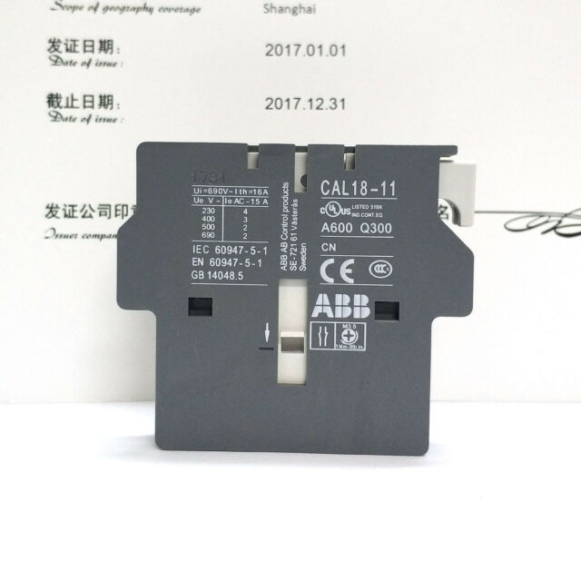 ABB CAL18-11 Contactor Auxiliary Contact New #