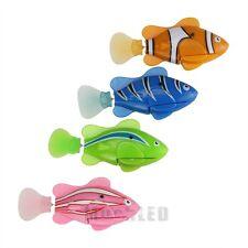 4Pcs Robo Fish Battery Powered Robofish Clownfish Electric Gift Children Kid Toy