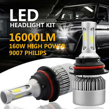 PHILIPS COB 9007 HB5 160W 16000LM LED Headlight Kit Hi/Lo Power Bulbs 6500K Cool