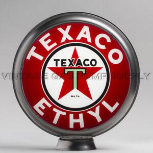 "Texaco Fire Chief 13.5/"" Gas Pump Globe w// Red Plastic Body G195"