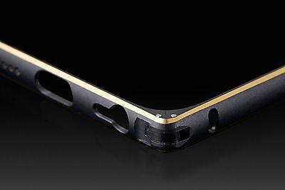 "Luxury Aluminum Metal Bumper Frame Case Cover for Apple iPhone 6 5.5"" Black+gold"