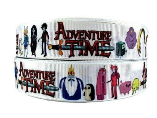 """Adventure Time TV Series 1/"""" Wide Repeat Ribbon Sold in Yard Lots"""