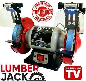 Lumberjack-Heavy-Duty-Workshop-Twin-Wheel-150mm-6-034-Bench-Grinder-amp-Polisher-230v