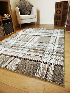 Beige Brown Patterned Rugs