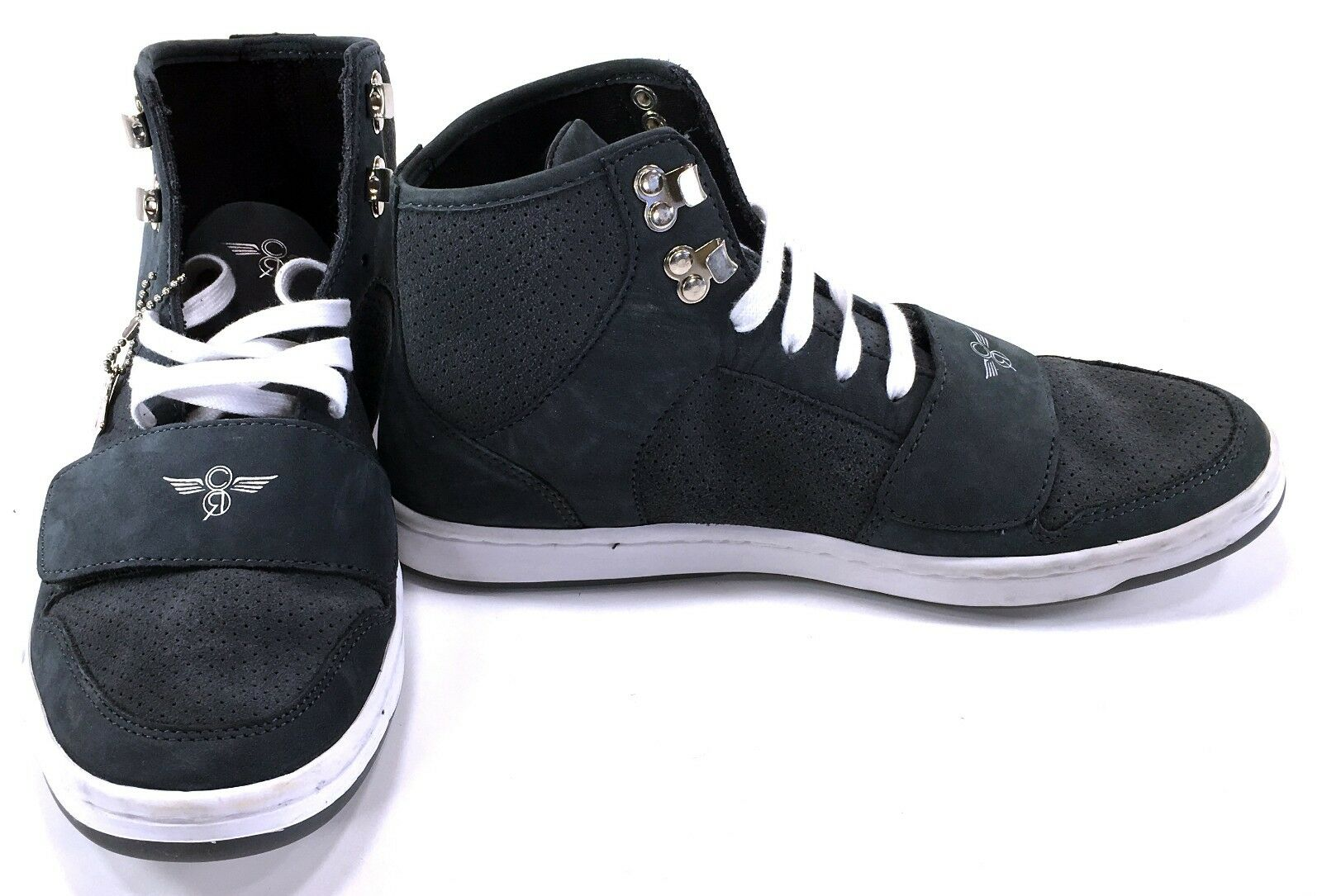 Creative Recreation Chaussures Cesario Hi Strap Suede Gris Sneakers