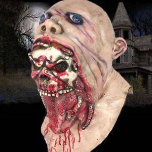 Halloween-Bloody-Scary-Adult-Zombie-Mask-Melting-Face-Latex-Costume-Walking-Dead